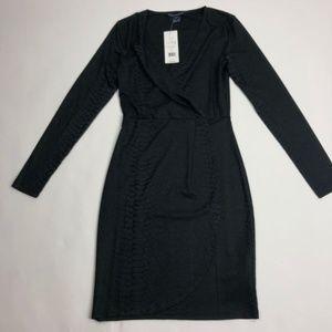 $138 Size 2 French Connection Dress Snake Print Ja
